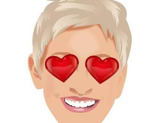 Ellen DeGeneres cartoon image