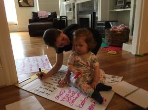 Hadley helping Jane brainstorm blog names