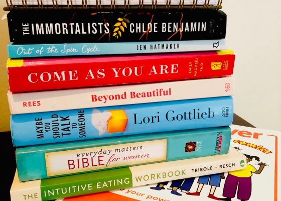 books on nightstand